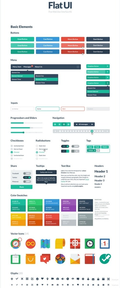 Free HTML Flat UI