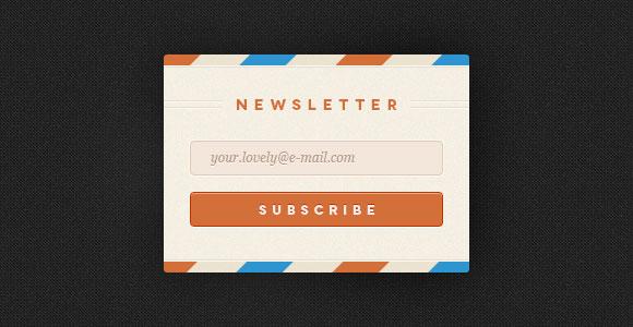 Newsletter Form PSD