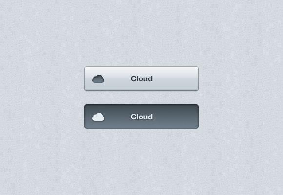 PSD cloud Button