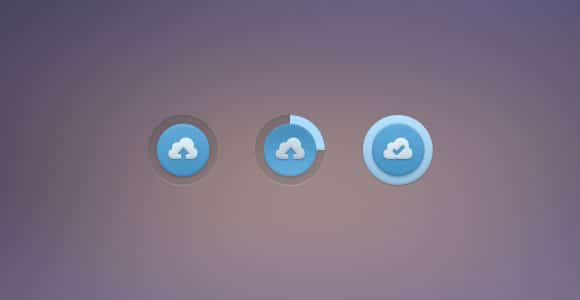 PSD upload button