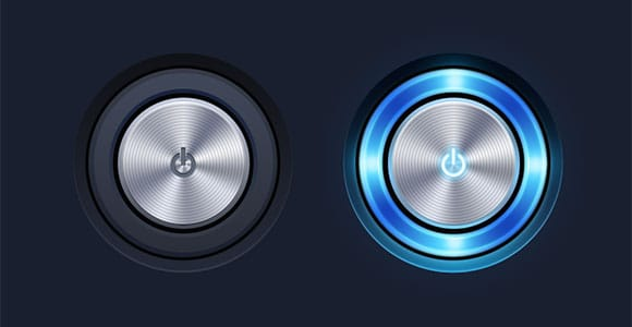 Power Button free PSD