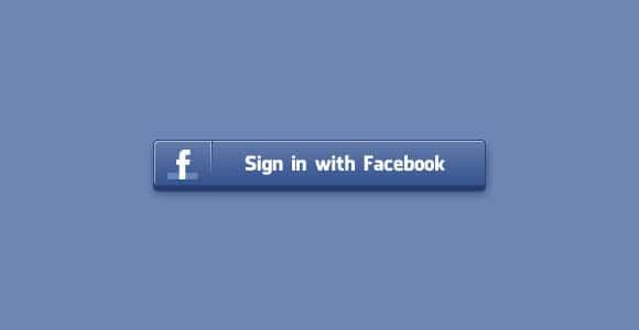 Sign in Facebook PSD button