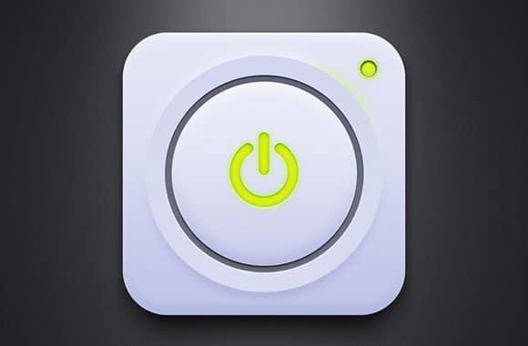 White power button PSD