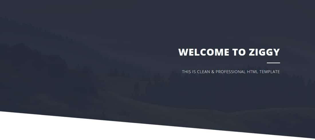 Ziggy - Free HTML CSS Templates
