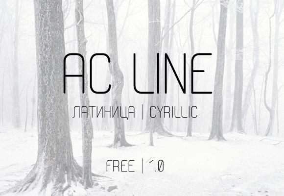 AC Line free font