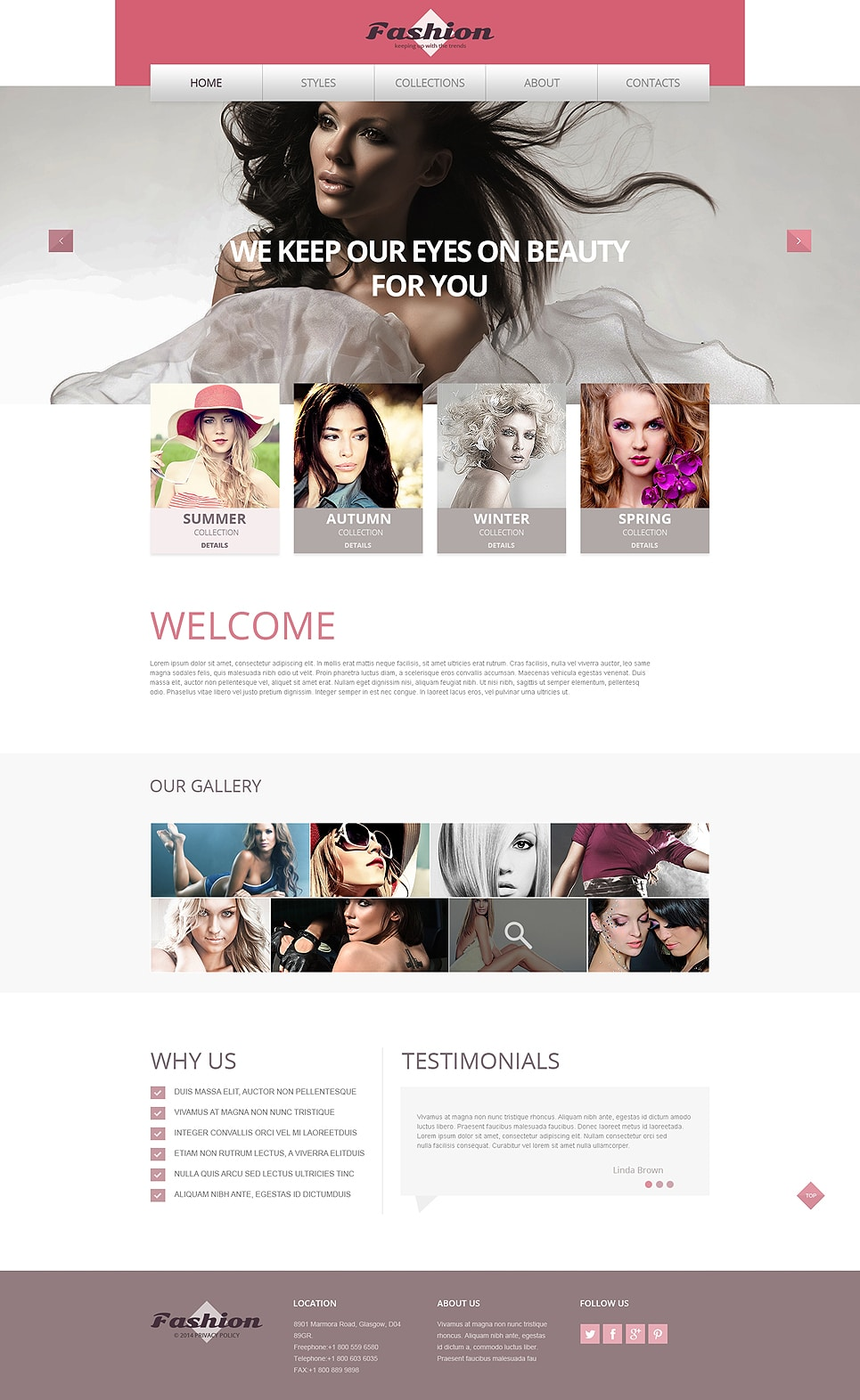 Apparel Responsive Website Template