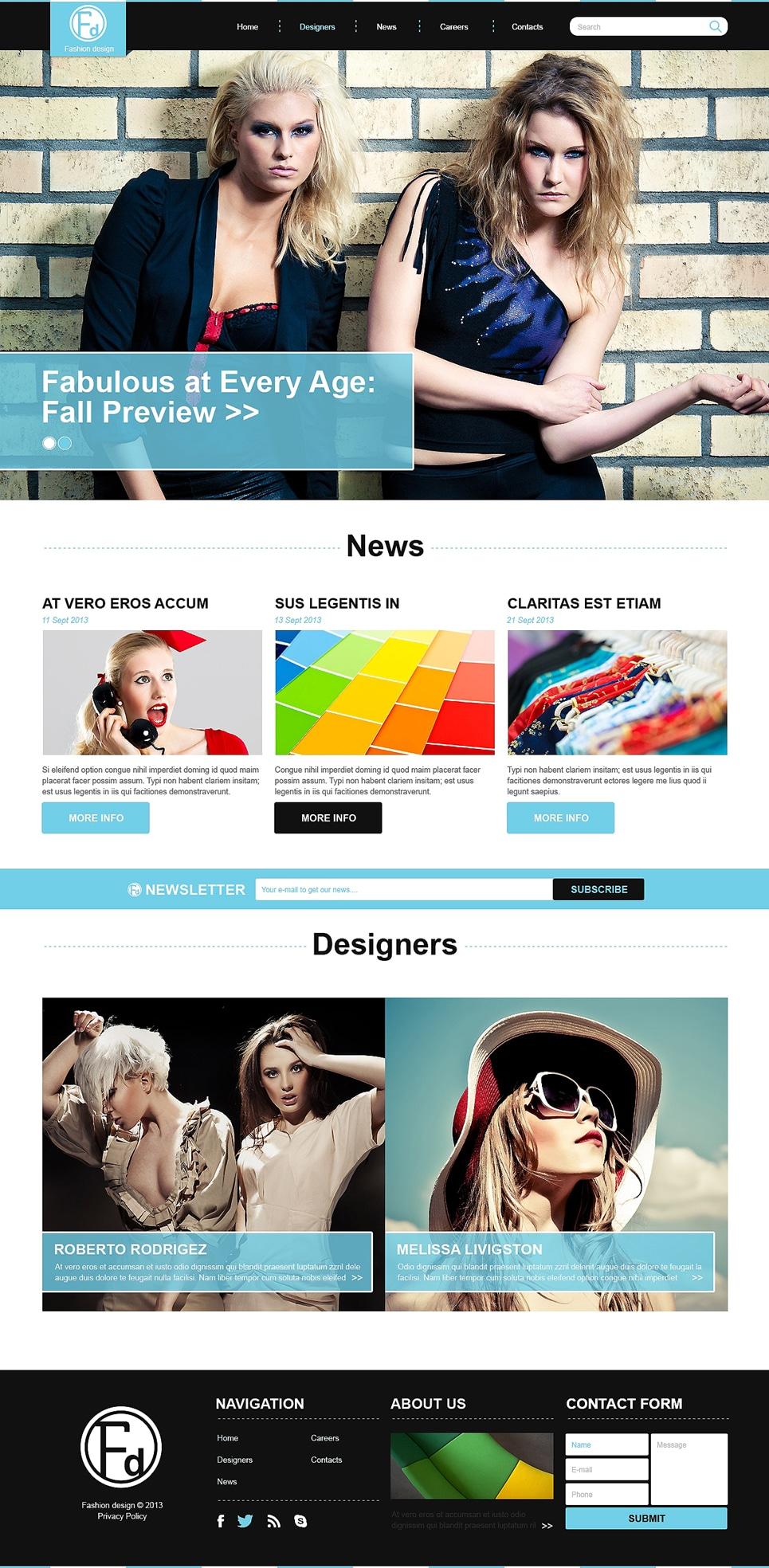 Fashion Design School Joomla Template