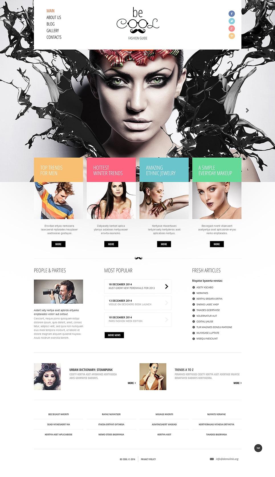 Fashion Guide Joomla Template
