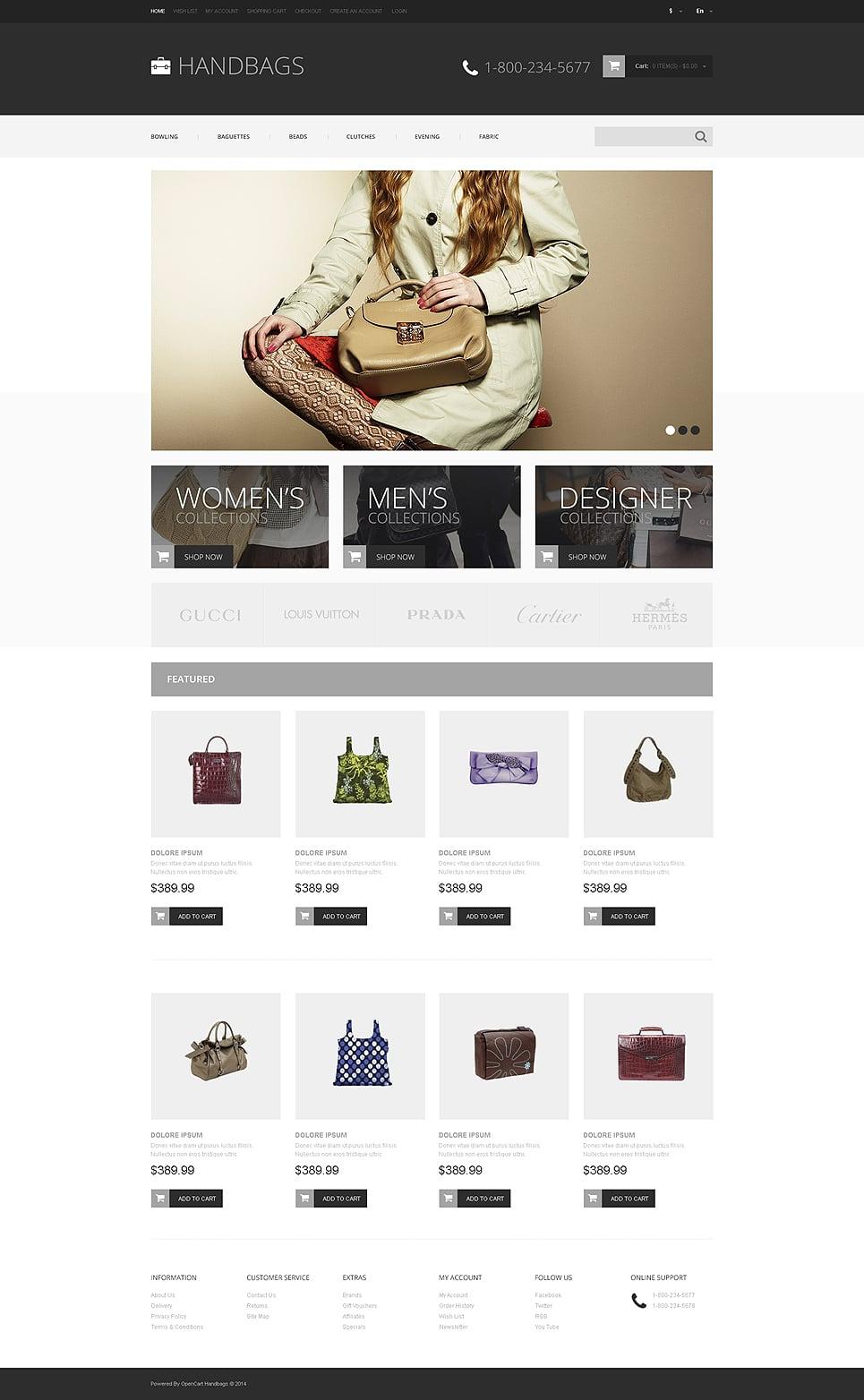 Handbag Responsive OpenCart Template