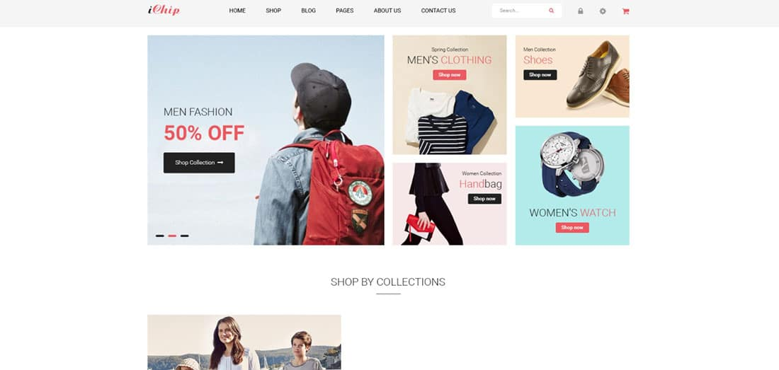 iChip Fashion Retail Website Themes