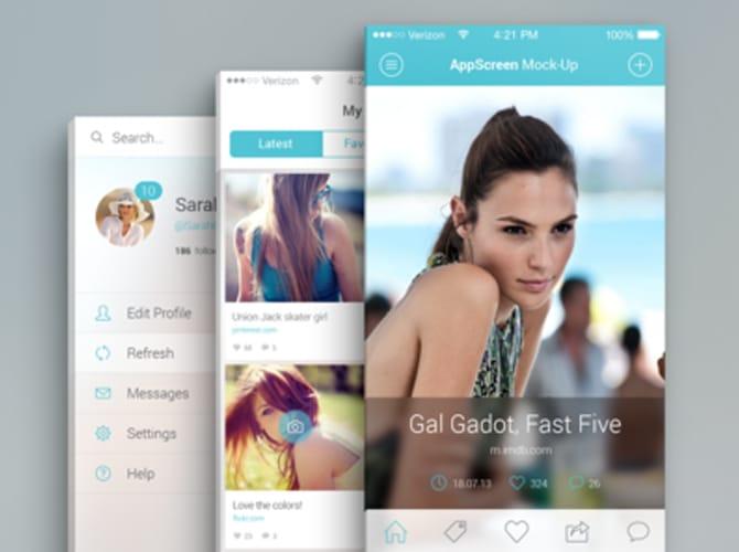 App Screen PSD Mockups