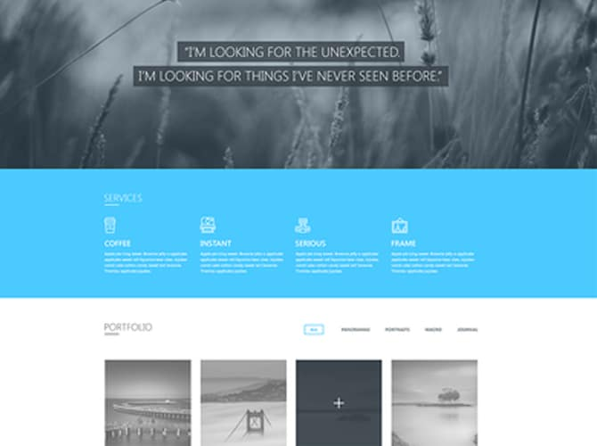 Blueasy Website Template Free PSD