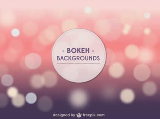 Bokeh Background Template