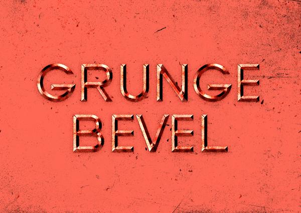 Grunge Bevel Text Effect