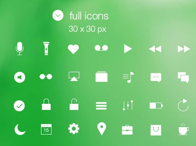 Line & Full iOS7 Icons Free PSD