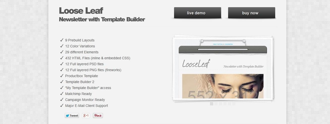 Best Newsletter Templates For MailChimp Responsive Joomla And - Mailchimp template builder