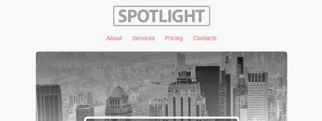 Spotlight Responsive Email Template
