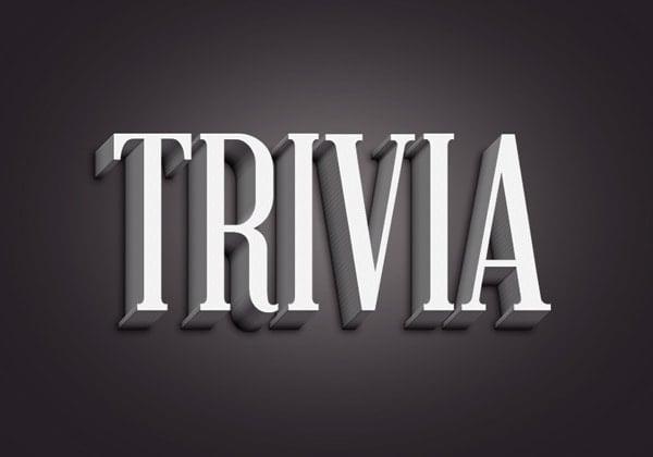 Trivia Text Effect
