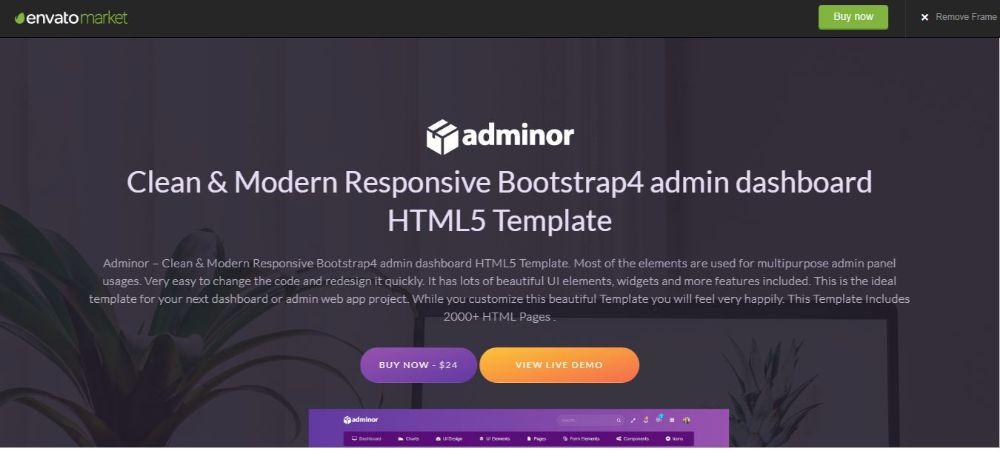 Adminor Admin Panel Theme