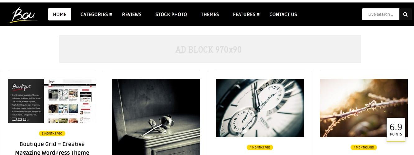 Bou = Masonry Review Magazine Blog WordPress Theme