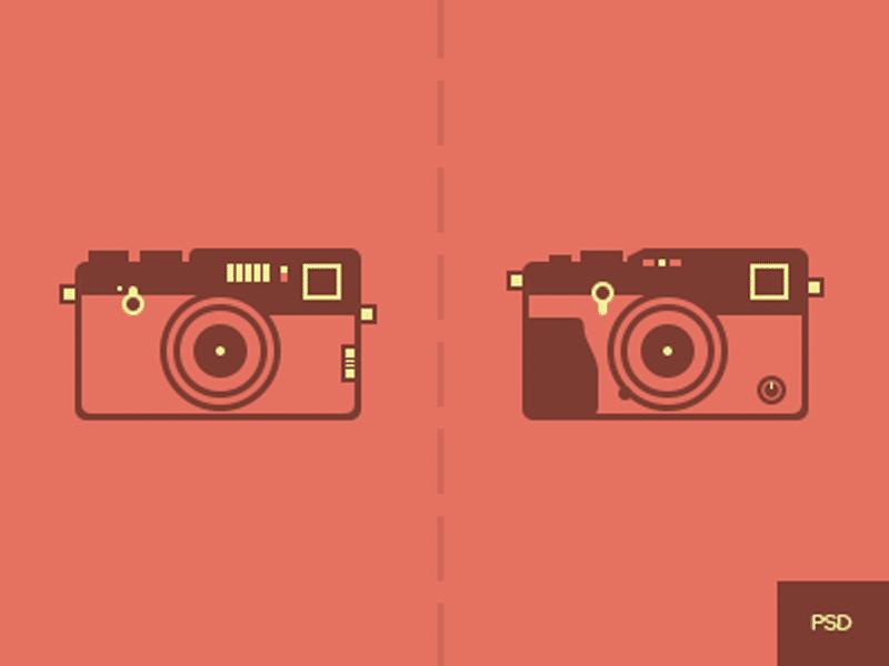 Fujifilm Cameras Free PSD Elements