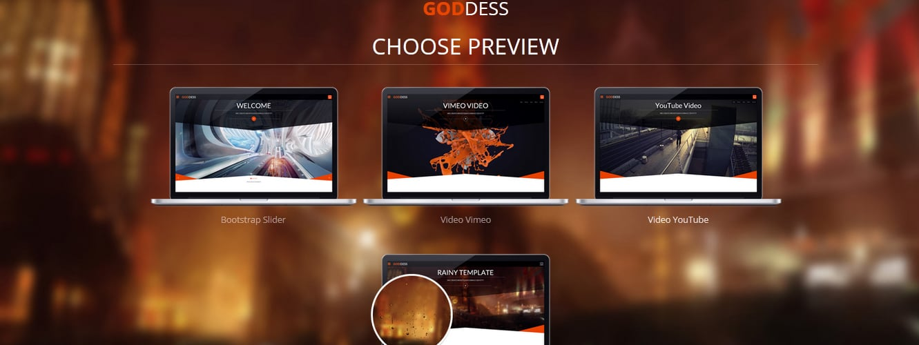Goddess - Multi Purpose & One Page WordPress Theme