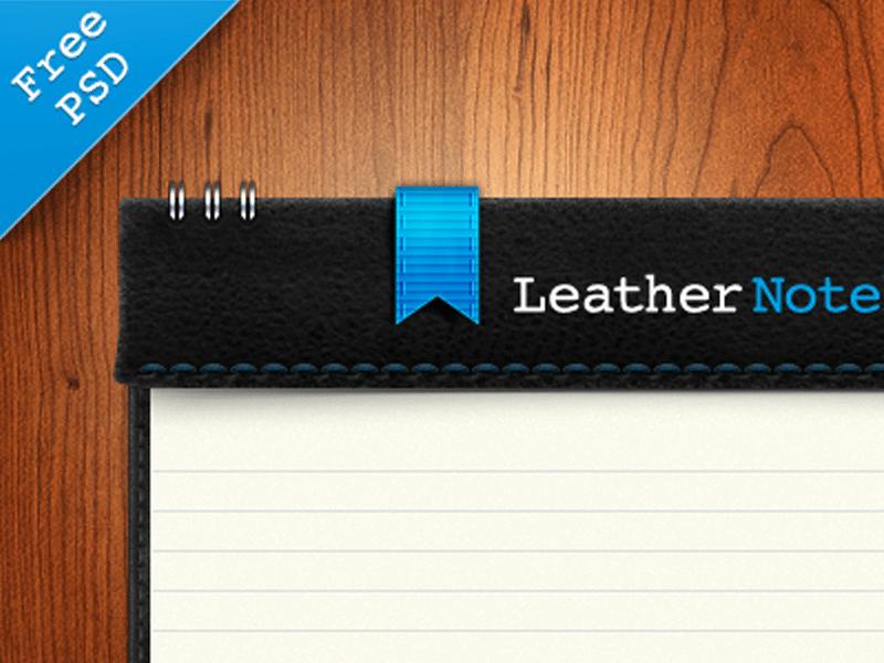 Leather Notebook PSD Freebie