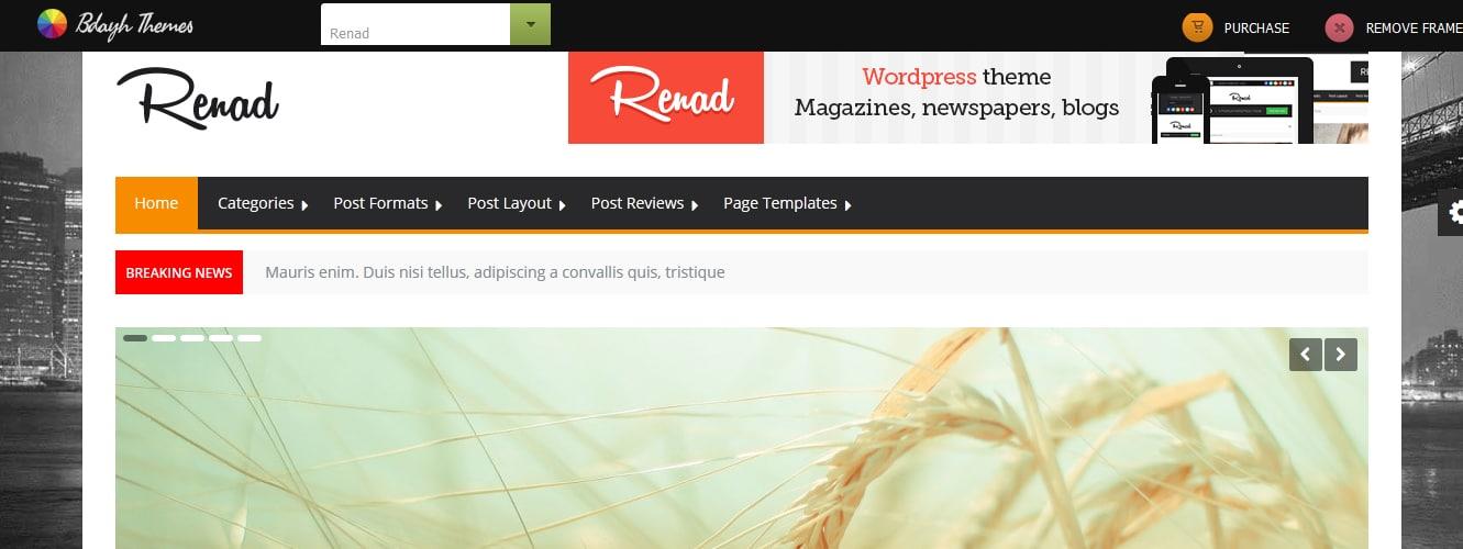 Renad - Clean & Modern WordPress Magazine Theme