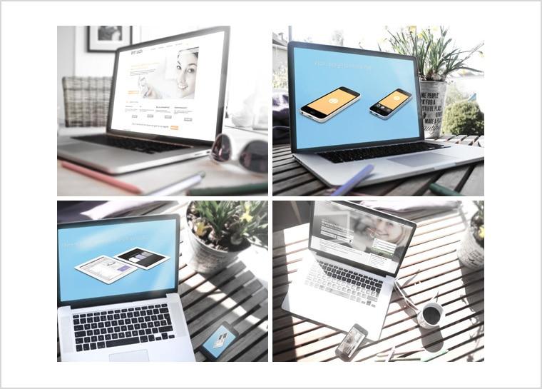 4 Macbook Mockups Free PSD