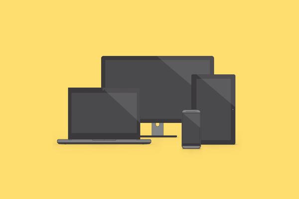 Display Device Mockups Free PSD