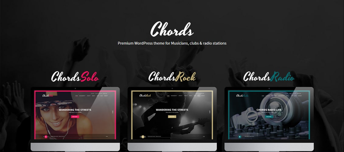 Chords - Music Artist Radio WordPress theme
