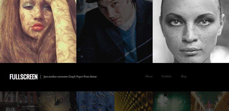 Fullscreen (Free WordPress One-column photography theme)