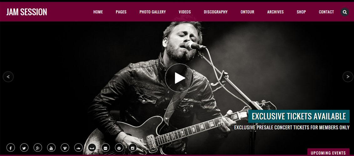 JamSession - Music & Music Band WordPress Theme