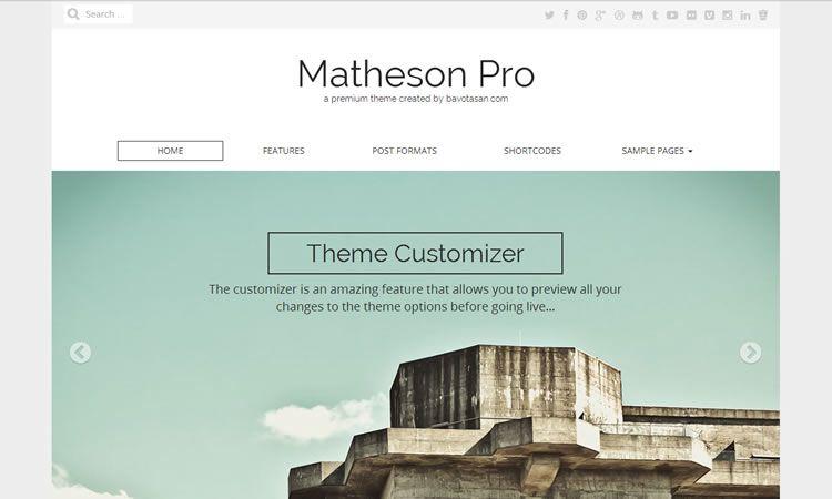 Matheson (Free WordPress Business theme)