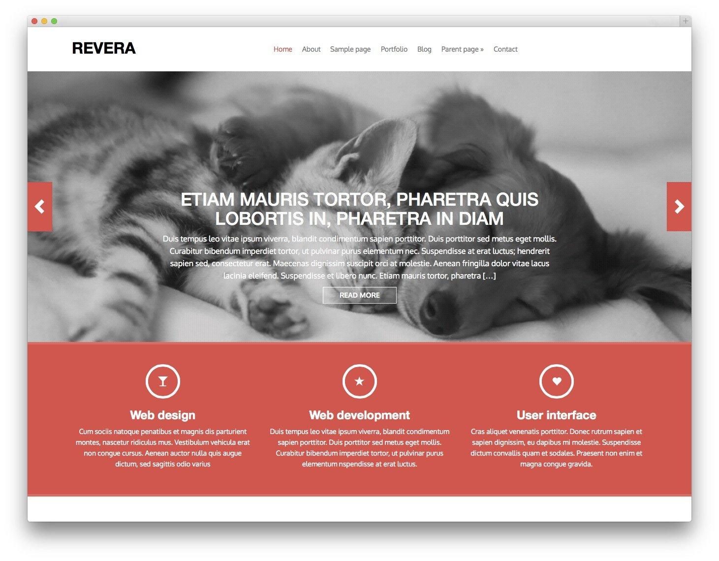 Revera Free Bootstrap WordPress Theme