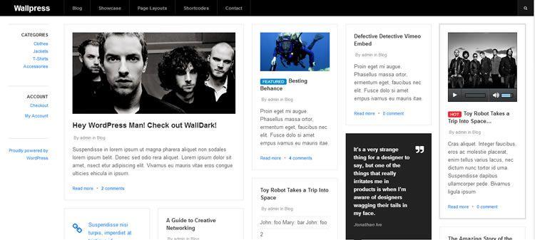Wallpress (Grid-based free WP magazine theme)