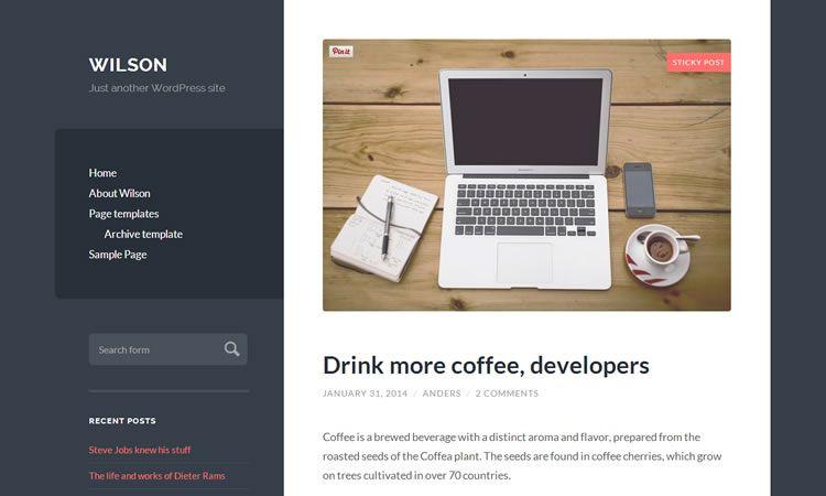 Wilson (Blogging theme - free for WordPress)