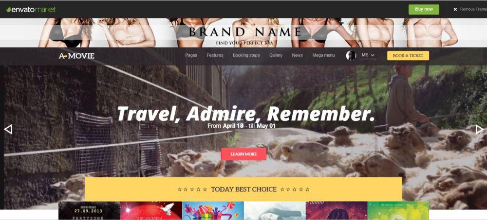 A.Movie- Cinema/Movie HTML LESS Template