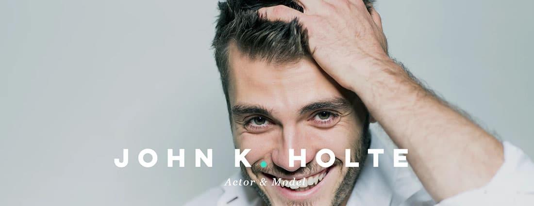 Actor Model Resume Website Templates