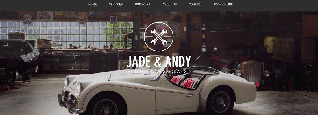 Vintage Car Garage Website