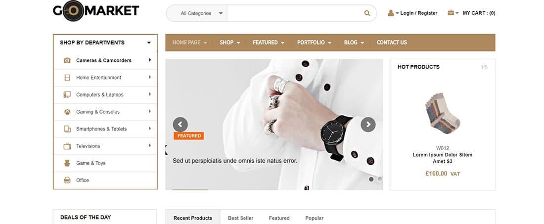 Woo GoMarket Fashion Retail Website Themes