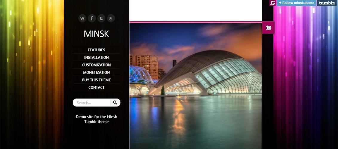 Minsk - Responsive AdSense-Ready Tumblr Theme