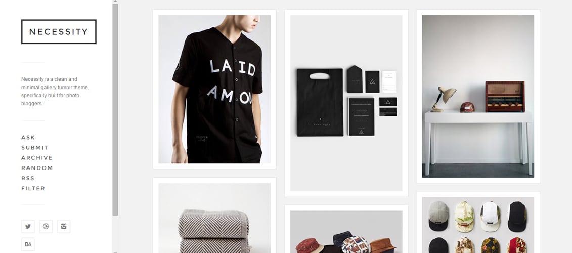 Necessity Tumblr Theme