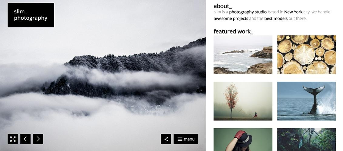 Slim - A Fresh Photography WordPress Theme