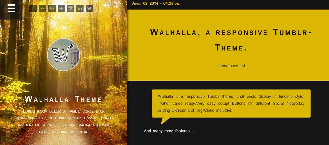 Walhalla, a responsive Tumblr-Theme.