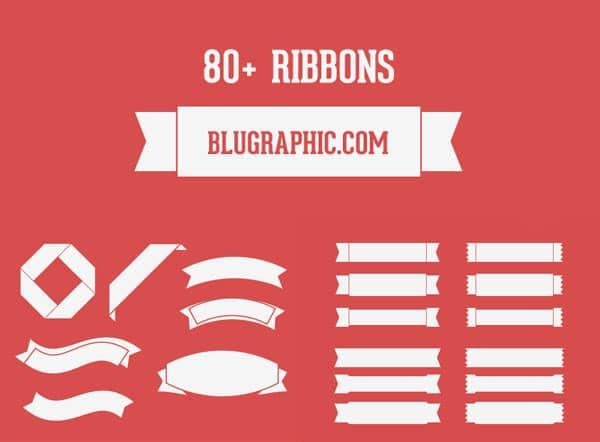 80+ Ribbons Free PSD
