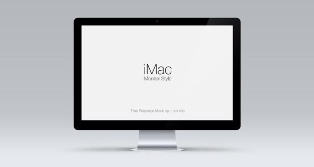 Apple Cinema Display Free PSD