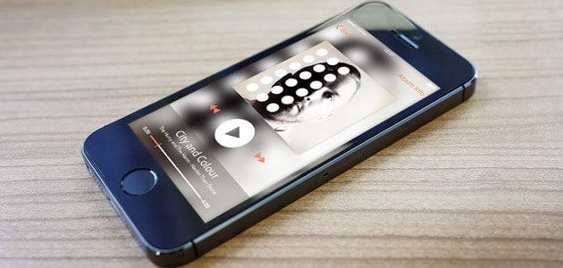 Audio Player App Free PSD
