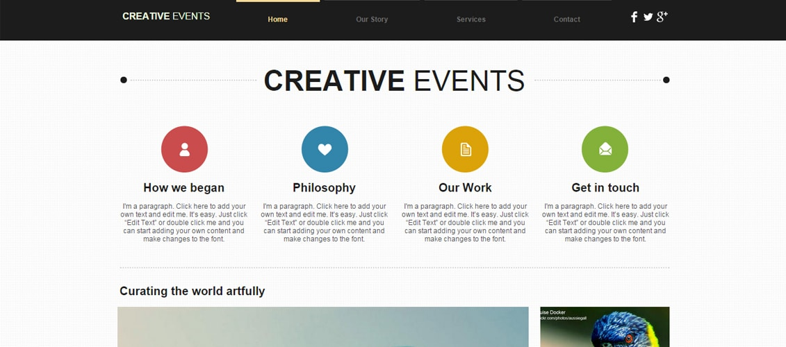Creative Agency Marketing Website Template