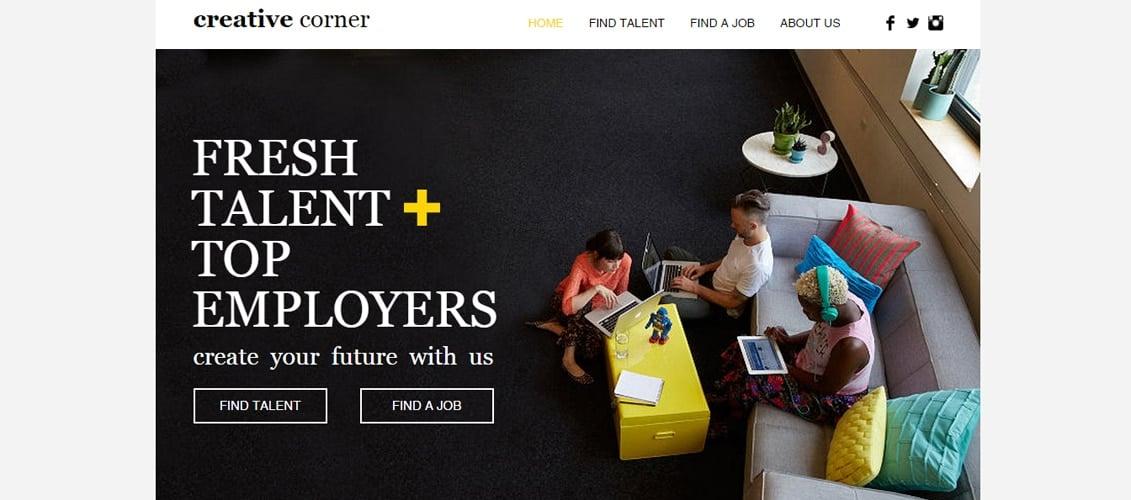 Creative Staffing Agency Marketing Website Template